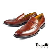 【Marelli】時尚簡約樂福鞋 棕色(2397-TAN)