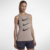 Nike 背心 Tailwind Running Tank 女款 跑步 排汗 坦克 小可愛 反光 卡其 藕粉 【ACS】 AQ2651-229