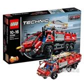 積木機械組42068機場救援車Technic積木玩具收藏xw