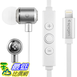 [美國直購] Spigen B01E4L4024 iPhone 7/7 Plus 手機專用 耳機 Earphones Apple MFI Approved Lightning Connector Port