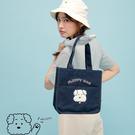 Queen Shop【06020122】毛毛狗日常 毛毛狗毛巾繡手提小包 兩色售*現+預*