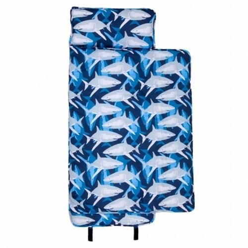 【LoveBBB】無毒幼教睡袋 符合美國標準 Wildkin 28700 鯊魚家族 午睡墊(3-7) 安親班/兒童睡袋