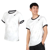 ASICS 男網球短袖T恤(免運 亞瑟士 慢跑≡排汗專家≡
