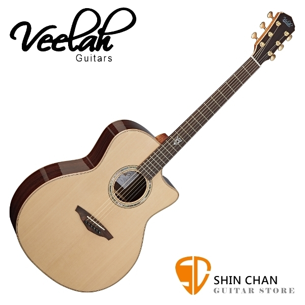 Veelah 吉他 V8-GAC 全單板 民謠吉他 附Veelah木吉他硬盒 GA桶身 台灣公司貨 Veelah V8GAC 木吉他