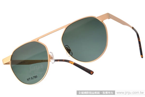 STEALER 太陽眼鏡 HORIZON C02 (金) 前衛時尚圓框款 # 金橘眼鏡