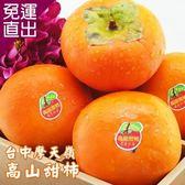 水果達人 台中摩天嶺高山甜柿 8A7.5兩-1箱(8顆/箱)【免運直出】