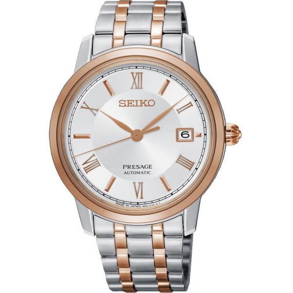 大台中時計SEIKO精工Presage 經典羅馬機械腕錶 SRPC06J1/39.2mm