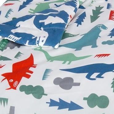HOLA home恐龍公園防蹣印花涼被 雙人