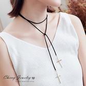 亮片十字架多圈纏繞項鍊  【櫻桃飾品】【10517  】
