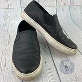 BRAND楓月 GUCCI 古馳 466872 黑色 真皮GG紋 平底鞋 #6 懶人鞋 休閒穿著