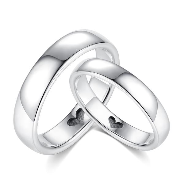 GIUMKA素雅925純銀戒指刻字紀念心之所愛情侶戒情人節送禮推薦 單個價格MRS08029