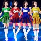 亮片爵士舞蹈演出服裝現代青春跳舞套裝女街舞嘻哈套裝啦啦隊服裝 京都3C
