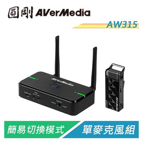 【Sound Amazing】圓剛 AVerMic AW315 教學專用無線麥克風(單麥克風組)