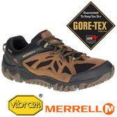 【美國 MERRELL】ALL OUT BLAZE 男 GORE-TEX多功能健行鞋 棕色 35903 多功能鞋│休閒鞋│登山鞋