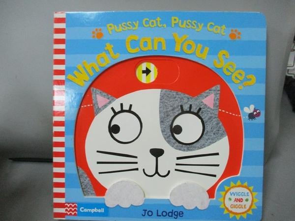 【書寶二手書T3/少年童書_PKR】Pussy Cat, Pussy Cat, What Can You See?_Lodge Jo