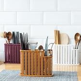 筷籠塑料瀝水筷子架勺子置物架多功能廚房餐具收納架筷子筒筷子簍【母親節禮物】