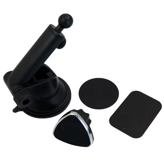 【H101B+G02】4~6吋 磁性儀表板伸縮手機架/吸盤式車上固定架/磁鐵手機架/車用支架/展示固定架