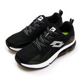 LIKA夢 LOTTO 專業避震氣墊慢跑鞋 VOLARE RUN系列 黑銀白 1131 男