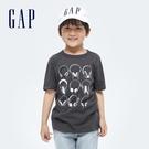 Gap男童 純棉印花短袖T恤 696636-炭黑色