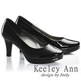 ★零碼出清★Keeley Ann簡約美學~上班族首選素面OL高跟鞋(黑色漆皮)