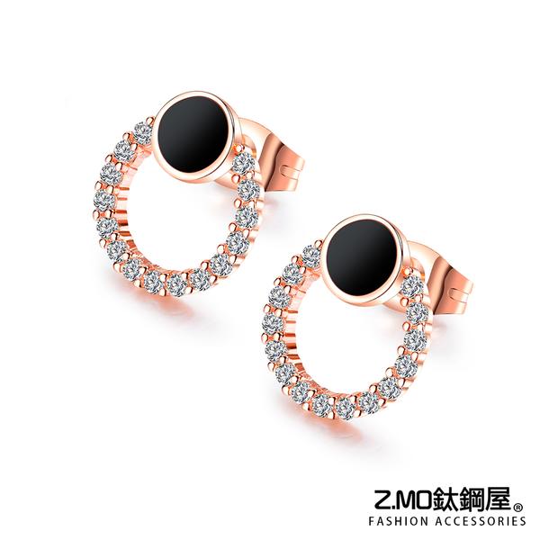 Z.MO鈦鋼屋 合金耳環 氣質黑色耳環 簡約風格 氣質耳環 好友禮物推薦 精美造型 一對價【EKA738】