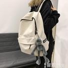 帆布後背包 ins風書包女韓版高中大學生情侶背包簡約校園百搭大容量後背包 智慧e家 新品
