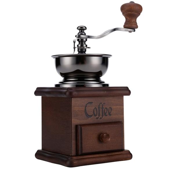 磨豆機 現貨24H急速出貨 復古手搖磨豆機 手磨咖啡機 手動咖啡豆研磨機 經典家用磨粉機 極客玩家