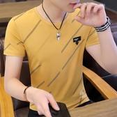 冰絲短袖 夏季冰絲短袖t恤男士修身上衣丅桖打底衫半袖衣服潮流體恤男T 唯伊時尚