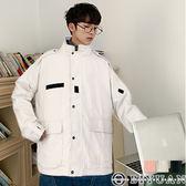 【OBIYUAN】外套 素面 工裝 翻蓋口袋 軍風 夾克 共3色【FJSSW26】