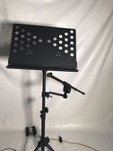 凱傑樂器 譜架加裝麥克風架零件 麥克風轉接頭+麥克風架長桿