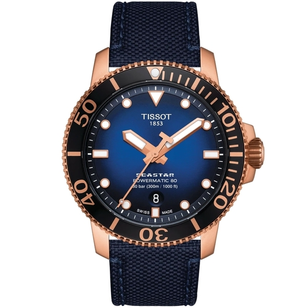 TISSOT天梭 Seastar 海洋之星潛水機械錶-43mm T1204073704100