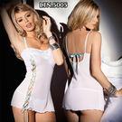 ■■iMake曖昧客■■透明薄紗睡衣(LTN)5005-白-F