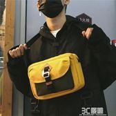 單肩包 斜背男帆布潮流韓版運動學生情侶個性時尚小 3C優購