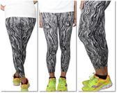 FIVE UP  運動緊身長褲 女 黑白水墨條紋 舒適彈性 台灣製造
