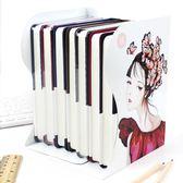 伸縮書架簡易桌上學生鐵書夾書靠書立簡約創意可折疊收納igo 全館免運