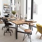 會議桌 鐵藝會議桌實木長條桌loft辦公桌北歐餐桌長方形工作台簡約洽談桌 MKS克萊爾
