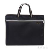 大容量商務手提公文包男士辦公文件包勛水帆布休閒資料袋手拎袋 QQ27456『東京衣社』