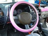 粉色系 卡夢版 無臭味 3D 碳纖維 立體卡夢 汽車方向盤皮套 方向盤套 保護套 M尺寸 CARBON