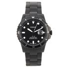 FOSSIL 時尚黑日期鋼帶男腕錶42mm(FS5659)270417