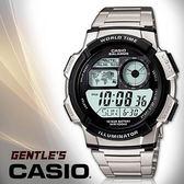 CASIO手錶專賣店 卡西歐 AE-1000WD-1A 男錶 電子錶 飛機儀表板 LED照明 秒錶不鏽鋼錶帶