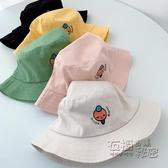 春秋新品可愛超萌防曬遮陽漁夫帽帽子兒童男童女童太陽帽盆帽 衣櫥秘密