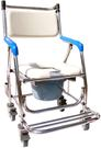 全新不鏽鋼附輪便器椅可收合站立 洗澡椅...