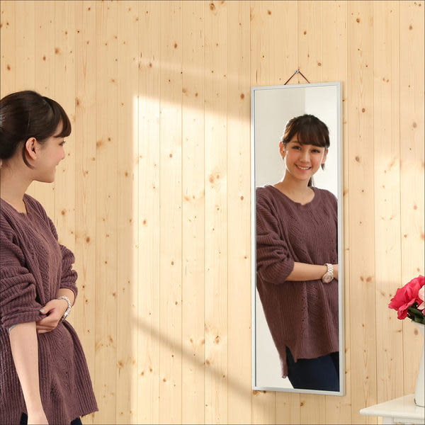 【百嘉美】鋁合金90CM壁鏡 松木立鏡 穿衣鏡 電腦桌 電腦椅