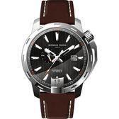 GIORGIO FEDON 1919 永恆系列運動版機械錶-黑x咖啡/45mm GFCI002