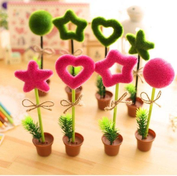 【發現。好貨】韓國創意文具 個性仿真植物原子筆綠色盆景裝飾筆婚禮小物第二進場小物