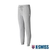 K-SWISS Shield Logo Sweat pants運動長褲-女-淺灰