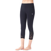 【MACACA】髖骨固定口袋六分褲-ASE6571(黑)(瑜伽/慢跑/健身/輕運動)