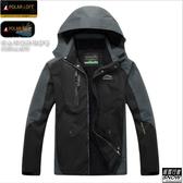 [極雪行者]SW-5801男/黑色/特種防水風雪polar-tech10000mm抗污抗靜電單件外層衝鋒衣