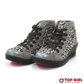 TOP GIRL  SESY GIRL 狂野豹紋厚底鞋  灰