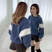 針織衫新款秋冬韓版寬鬆拼色打底衫 糖糖日系森女屋